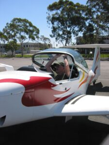 Dr. Mike in his Super Ximango motor glider