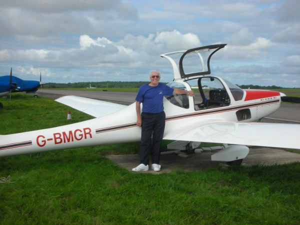 Terry Pearce and his Grob 109B