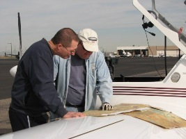 Russ & Kyle looking at maps